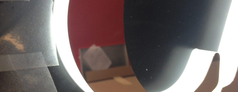 lettres talonette éclairage LEDS