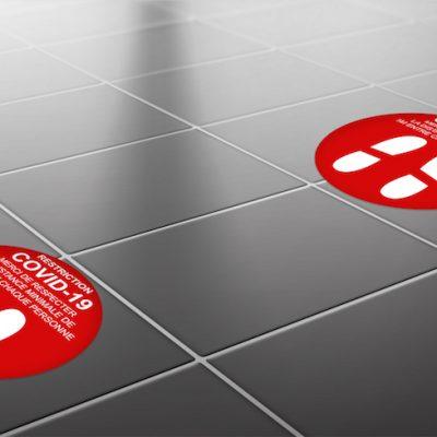stickers adhésifs sols